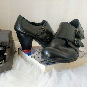 BOC/Born Concepts Black Leather Ankle Bootie Sz 8